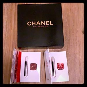 NIB Chanel makeup bag and lip gloss bundle